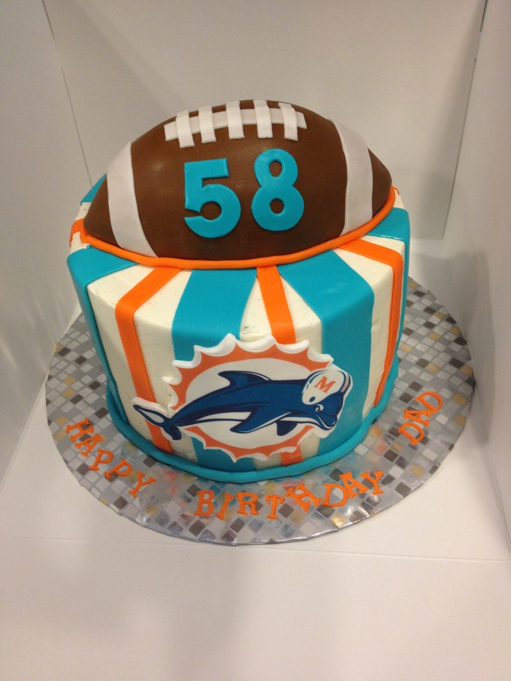 Swell 10 Miami Dolphin Cupcakes Decorations Photo Miami Dolphin Funny Birthday Cards Online Alyptdamsfinfo