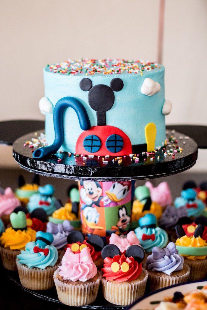 Stupendous 11 Mickey Mouse Birthday Cakes Bakery Photo Mickey Mouse Cake Funny Birthday Cards Online Kookostrdamsfinfo