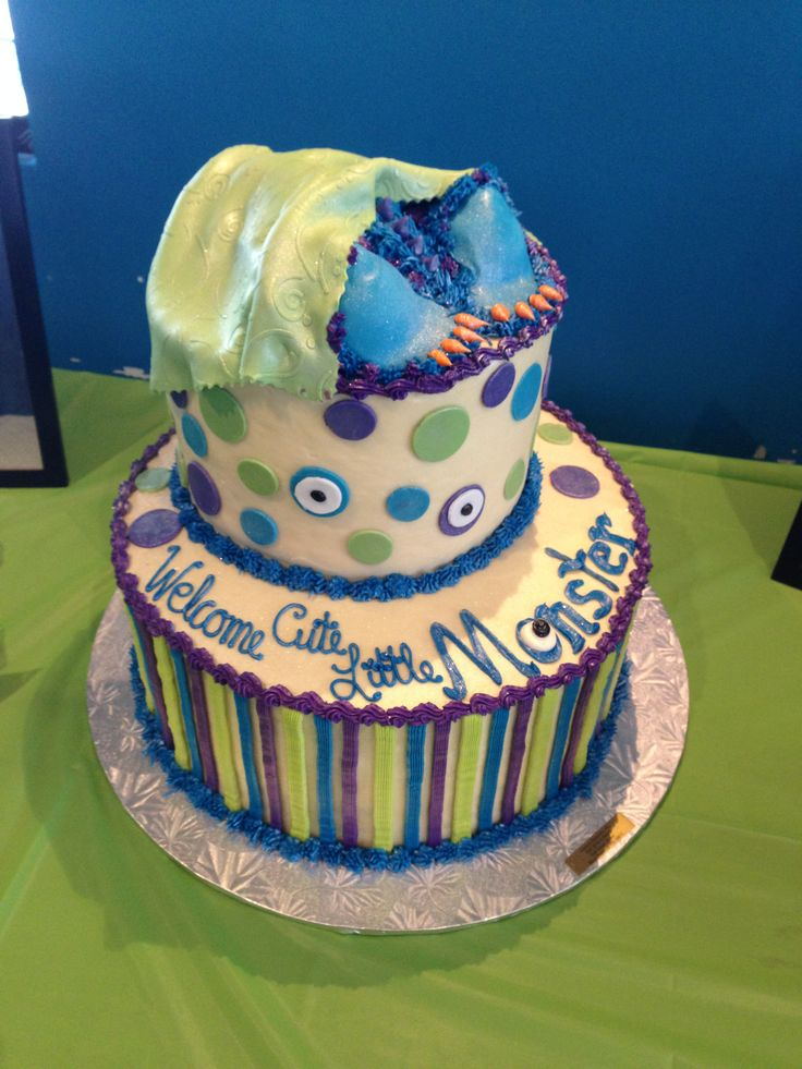 7 Monsters Inc Baby Shower Cakes Pinterest Photo Monsters Inc Baby
