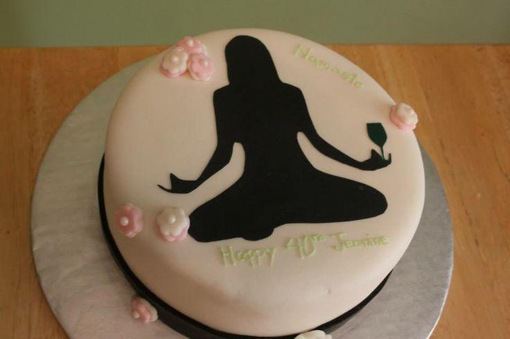 7 Wellness Themed Cakes Photo Happy Birthday Yoga Cake Gym Themed