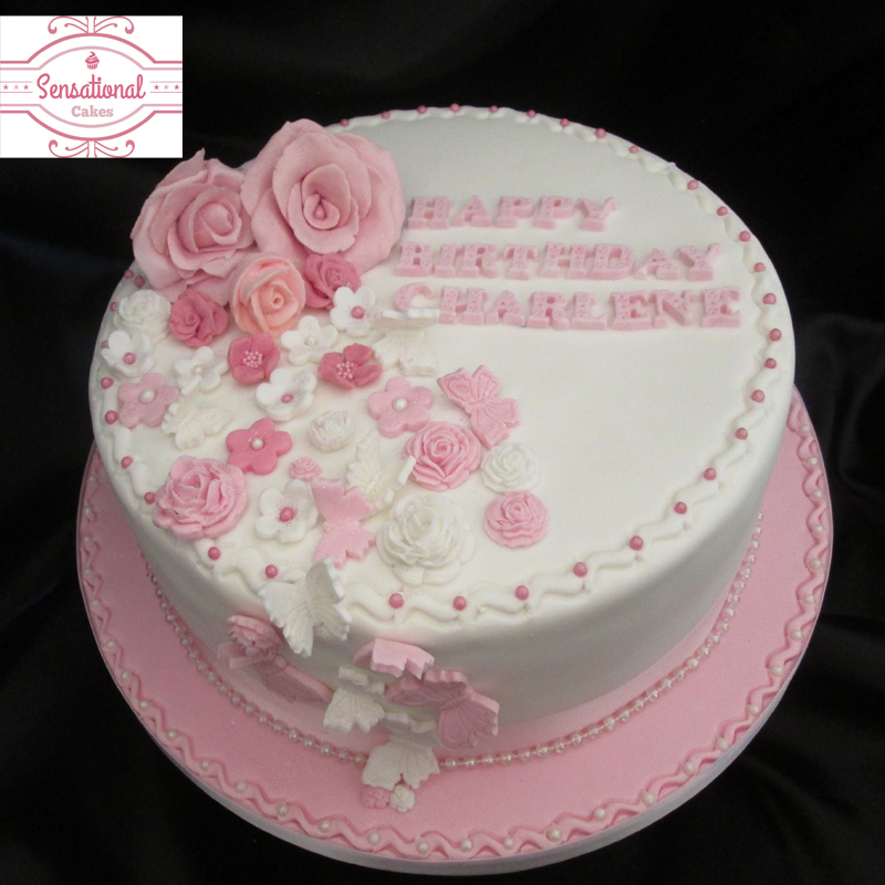 11 Adult Birthday Cakes Pink And White Photo Black And Pink