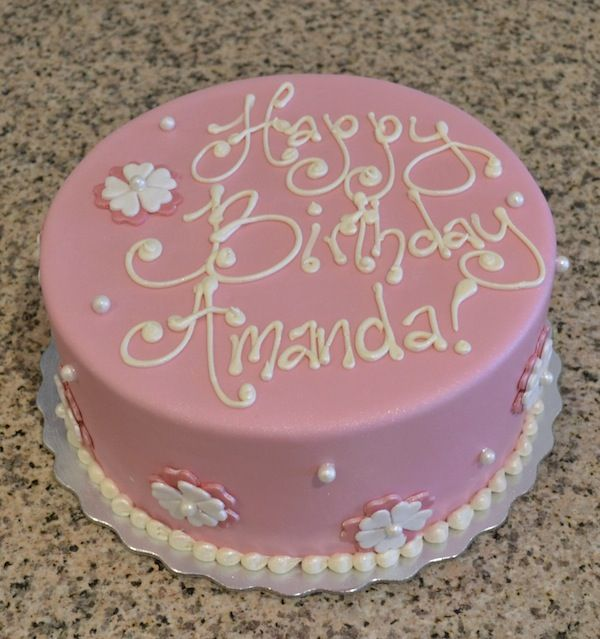 Phenomenal 11 Adult Birthday Cakes Pink And White Photo Black And Pink Funny Birthday Cards Online Barepcheapnameinfo