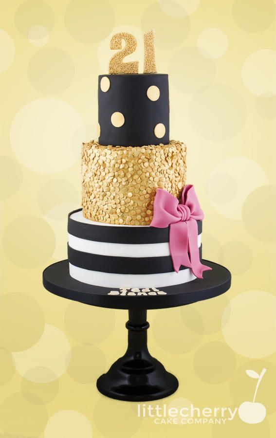 10 Black And Gold Birthday Cakes Photo Black And Gold Birthday