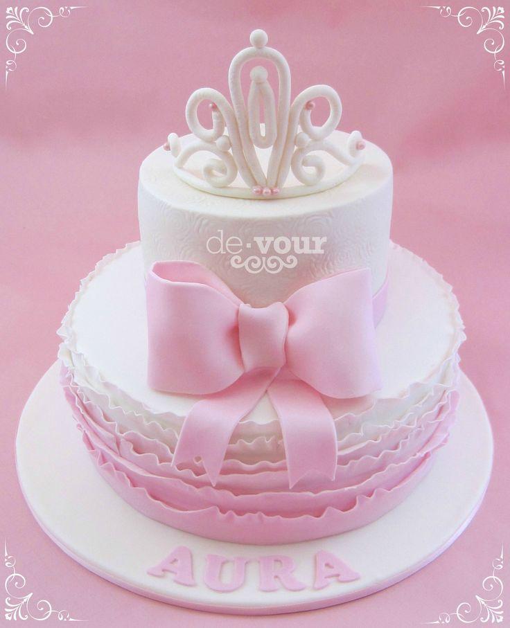 7 Pink Tiara Cakes Photo Pink Princess Birthday Cake Pink