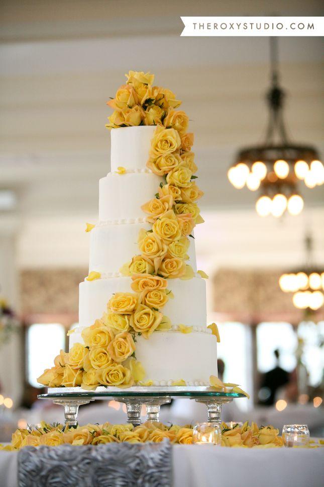 12 Yellow Purple White Square Wedding Cakes Photo - Purple and ...