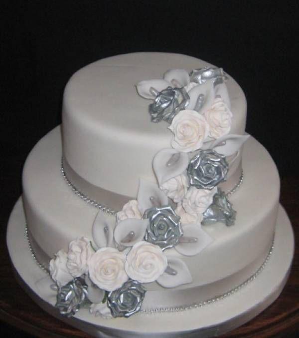 11 Silver 25th Wedding Anniversary Cakes Photo Silver 25th Wedding