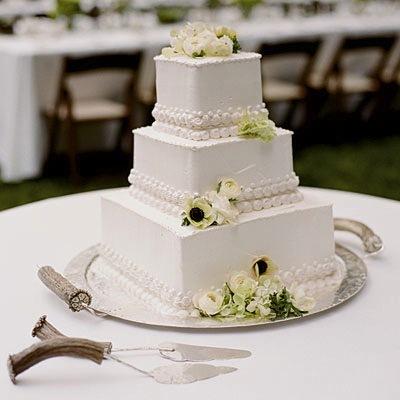 10 Easy Square Cakes Photo - Simple Square Wedding Cake, Simple 3 ...