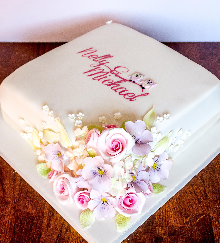 7 1 Tier Wedding Cakes With Roses Photo Single Tier Wedding Cake