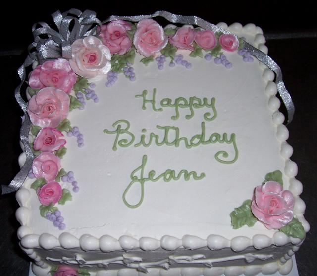 Awesome 7 Square Birthday Cakes With Roses All Over Photo Square Funny Birthday Cards Online Overcheapnameinfo