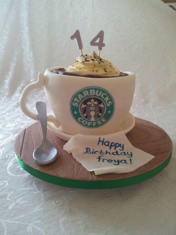 Astonishing 12 Sarah Starbucks Themed Cakes Photo Starbucks Cake Starbucks Funny Birthday Cards Online Fluifree Goldxyz