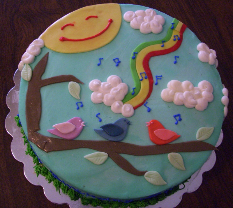 Pleasing 11 3 Birds Birthday Cakes Photo Three Little Birds Birthday Cake Personalised Birthday Cards Cominlily Jamesorg