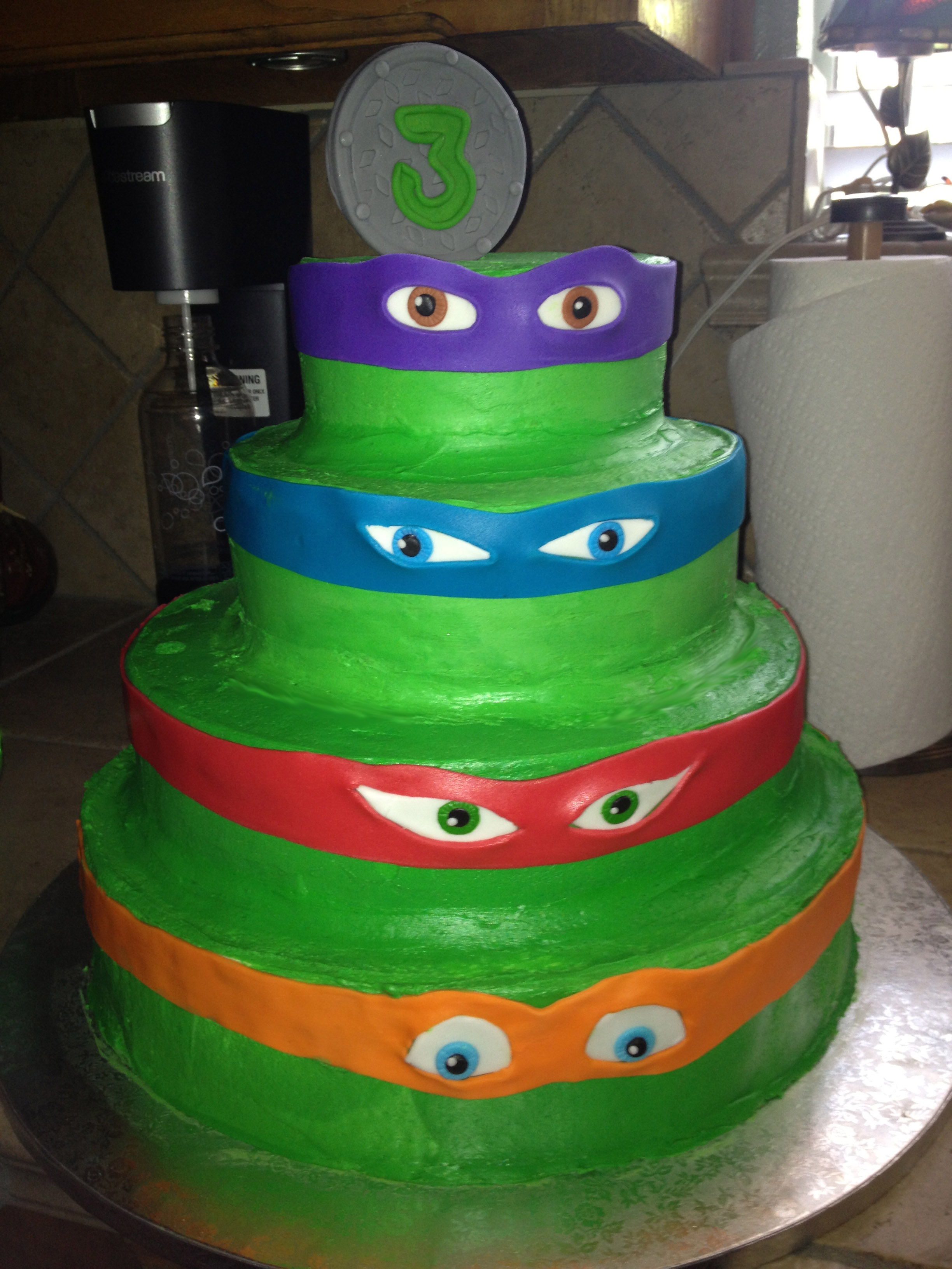 Astonishing 12 Tmnt Bday Cakes Photo Ninja Turtle Birthday Cake Ninja Funny Birthday Cards Online Elaedamsfinfo