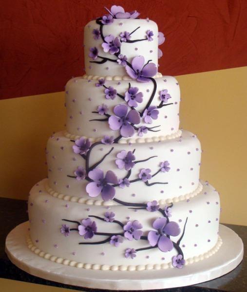 8 For Purple Theme Wedding Cakes Photo Purple Wedding Cake And