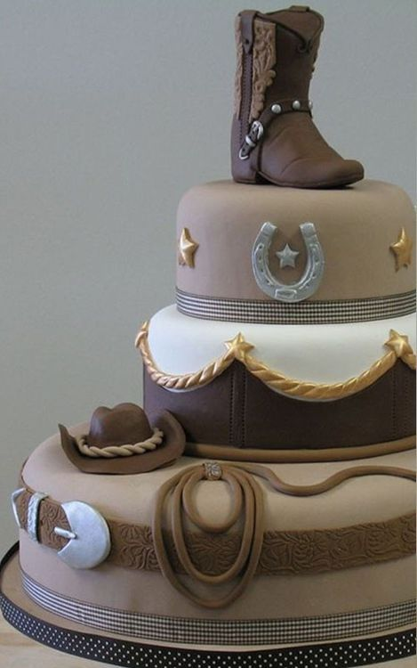 11 Country Style Wedding Cakes Pinterest Photo Rustic Country