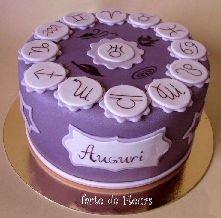 12 Astrology Birthday Cakes Photo , Cancer Zodiac Sign