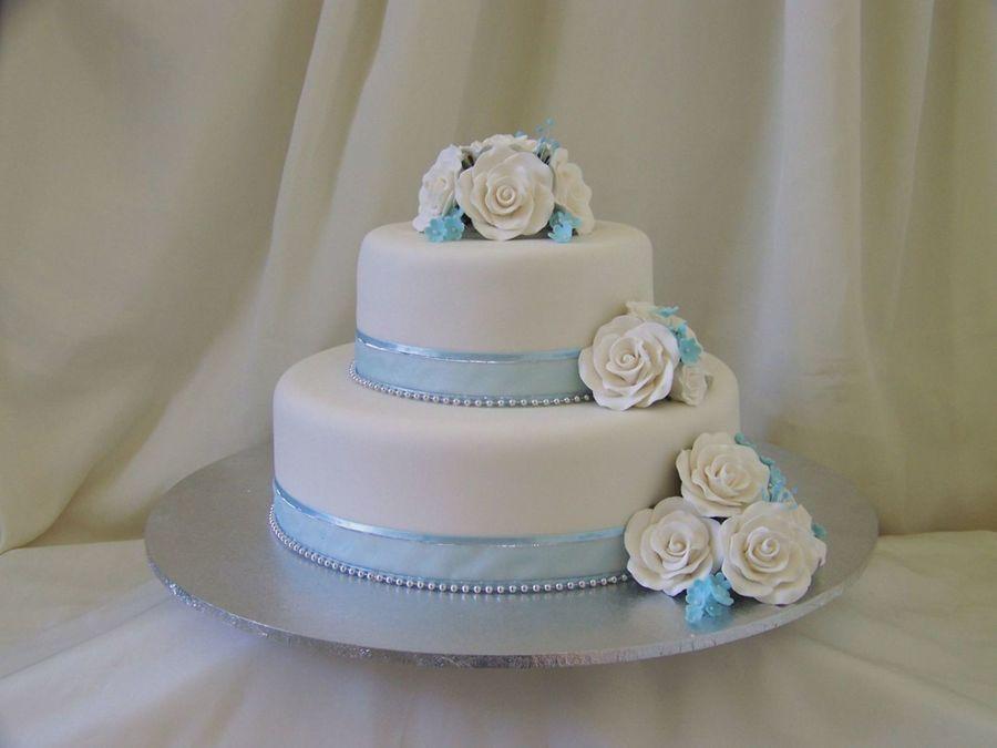 10 Blue 2 Tier Wedding Cakes Photo 2 Tier Wedding Cake Royal Blue
