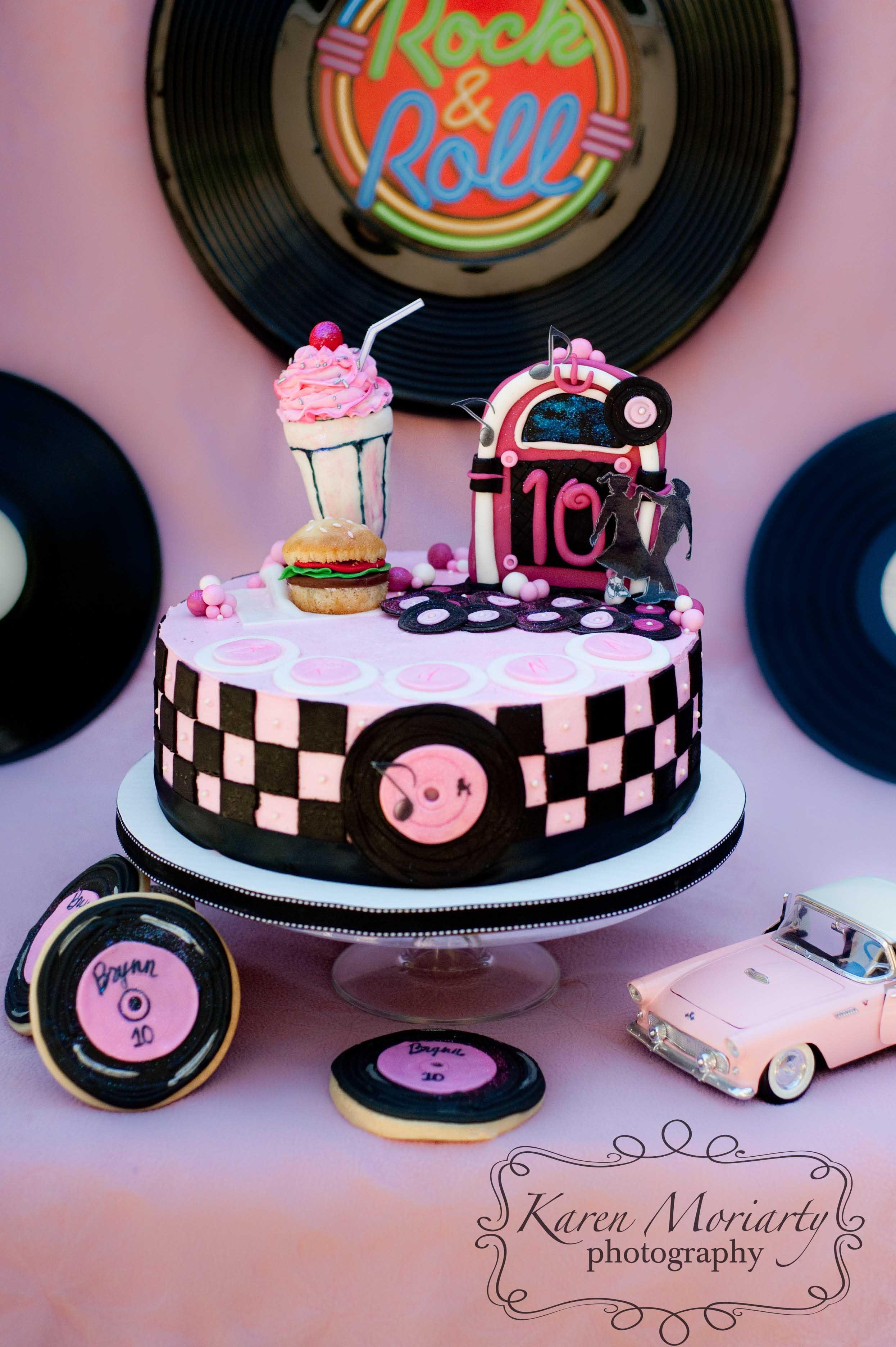 85 1950s Theme Cake 1950s 6 Birthday Cake Cake Idea Diner Sock
