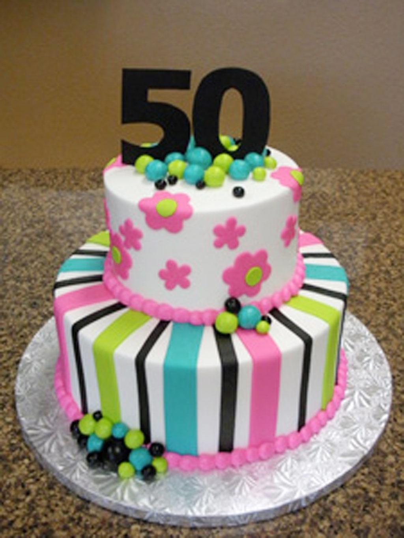 13 Fifty Birthday Cakes Photo 50th Cake Ideas