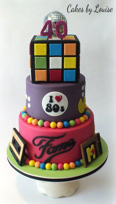 80s Theme Birthday Cake Ideas Via Disco