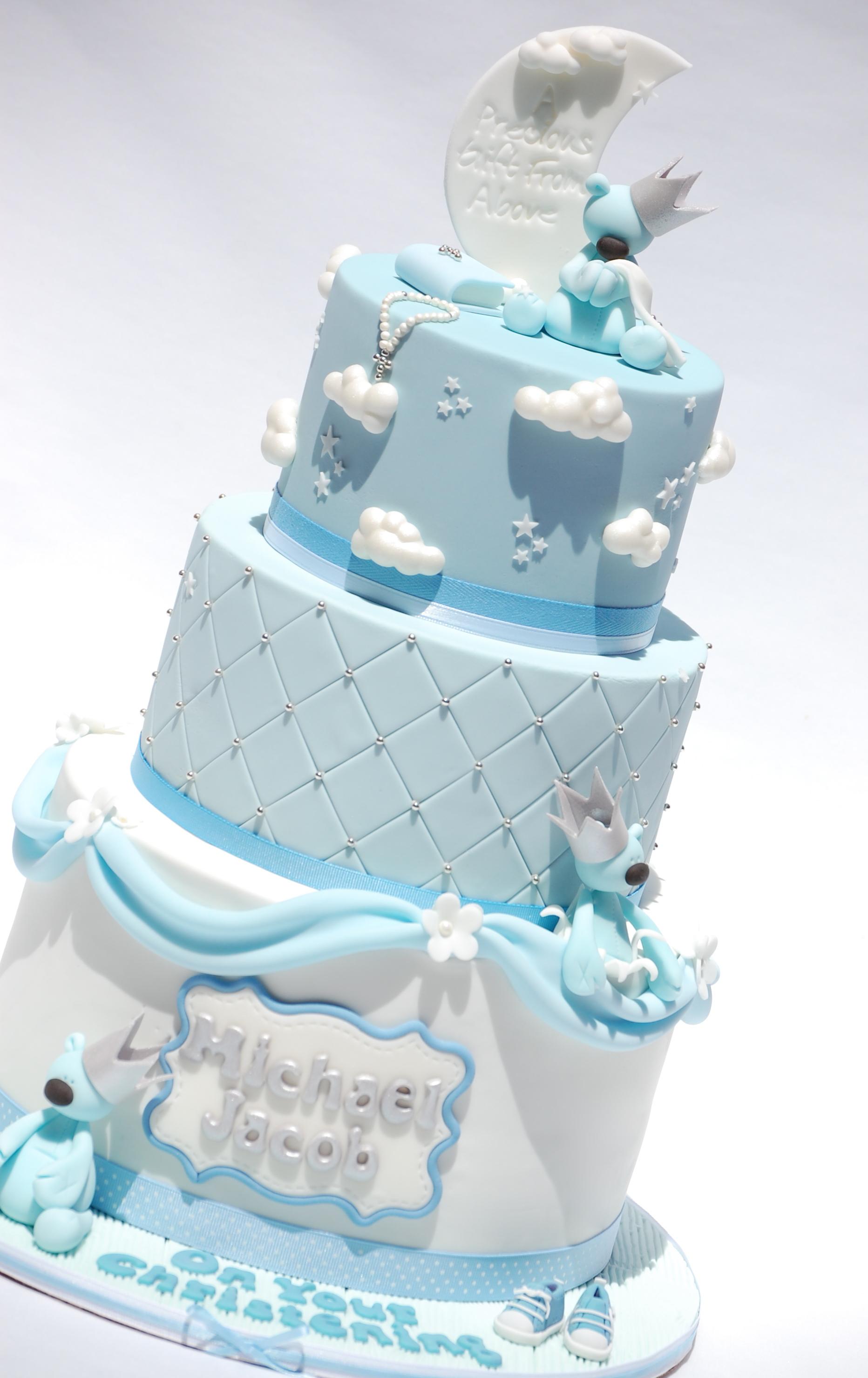 10 Baby Boy Christening Cakes Photo Baby Boy Baptism Cake Idea