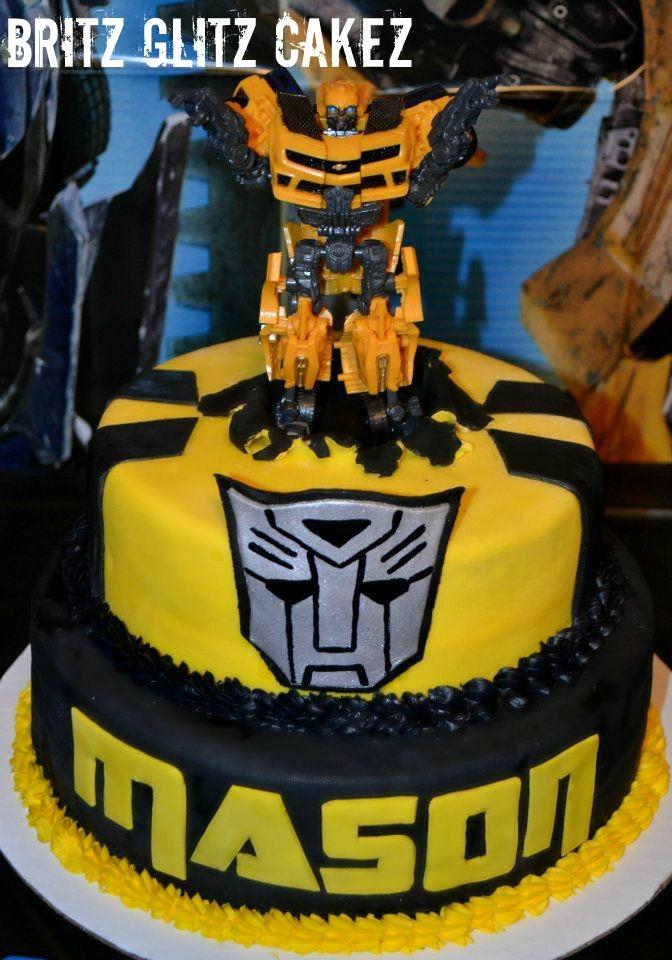 8 Bumble Bee Transformer Birthday Cakes Photo Bumble Bee