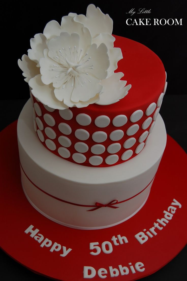 Elegant 50th Birthday Cakes