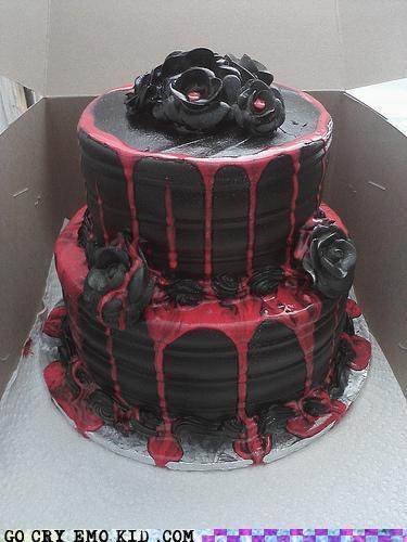 Excellent 12 Dark Gothic Birthday Cakes Photo Gothic Birthday Cake Gothic Birthday Cards Printable Inklcafe Filternl