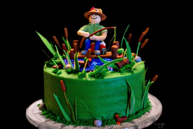Remarkable 9 Fisherman Birthday Cakes Photo Fisherman Birthday Cake Funny Birthday Cards Online Alyptdamsfinfo