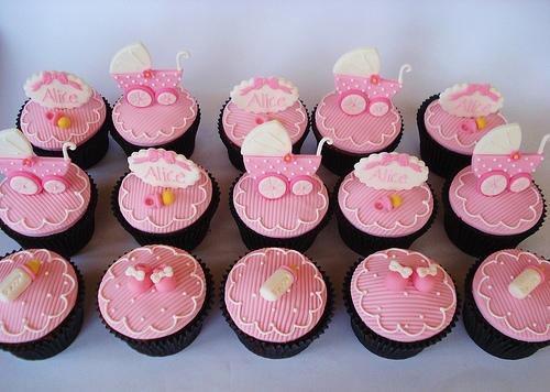 10 Cute Baby Girl Shower Cupcakes Photo Girl Baby Shower Cupcake