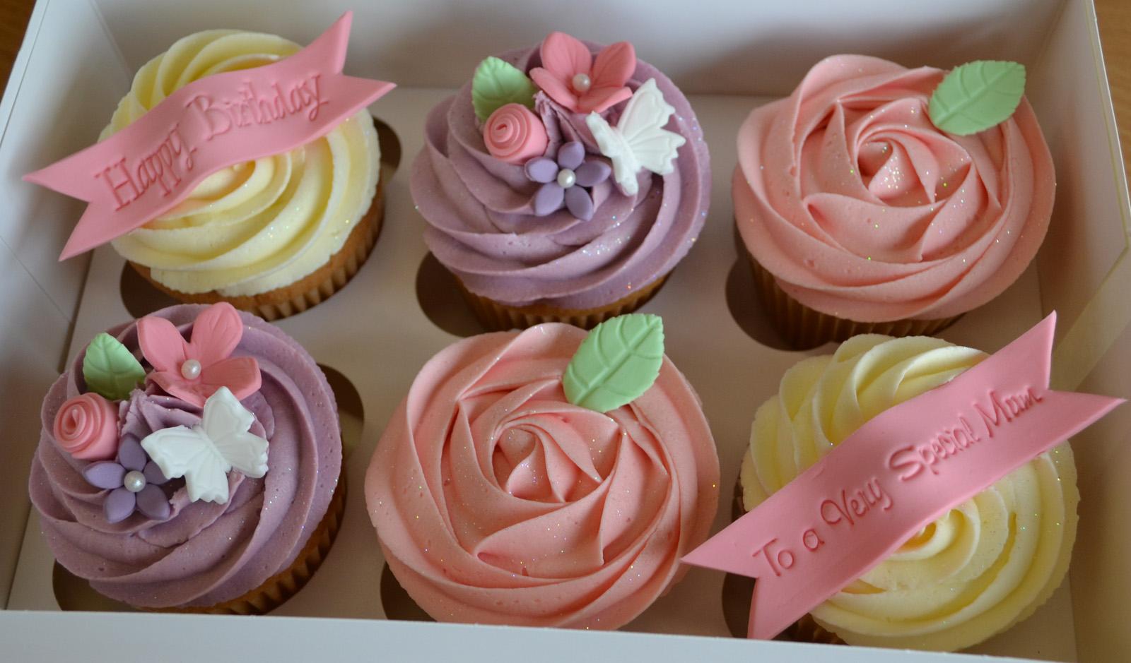 12 Happy Birthday Mom Cake And Cupcakes Photo Happy Birthday Mom