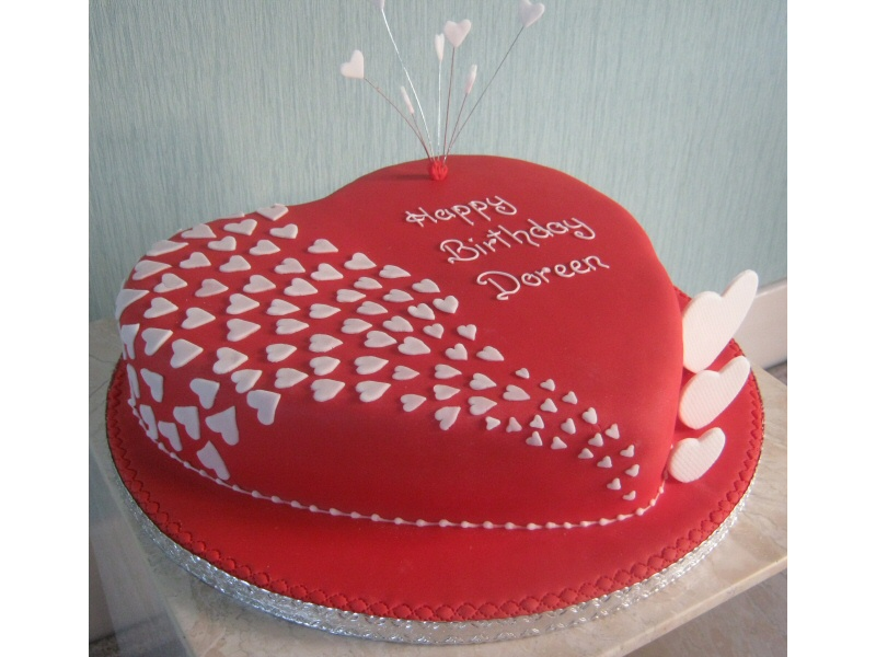 12 Happy Birthday Lover In Heart Shapes For Cakes Photo Heart Love