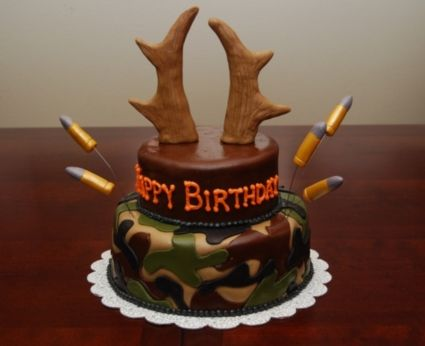 Superb 7 Funny Deer Hunting Birthday Cakes Photo Hunting Birthday Cake Personalised Birthday Cards Sponlily Jamesorg