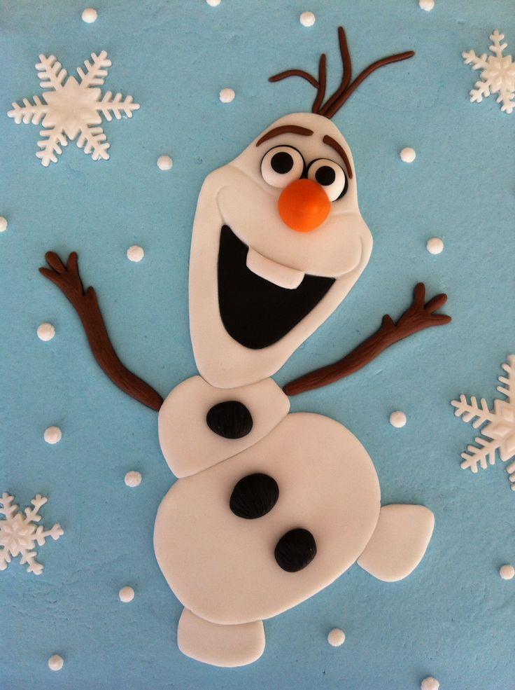 Olaf Frozen Cake Template