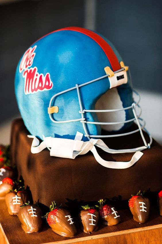 Terrific 9 Ole Miss Helmet Cakes Photo Ole Miss Football Helmet Cake Ole Funny Birthday Cards Online Fluifree Goldxyz