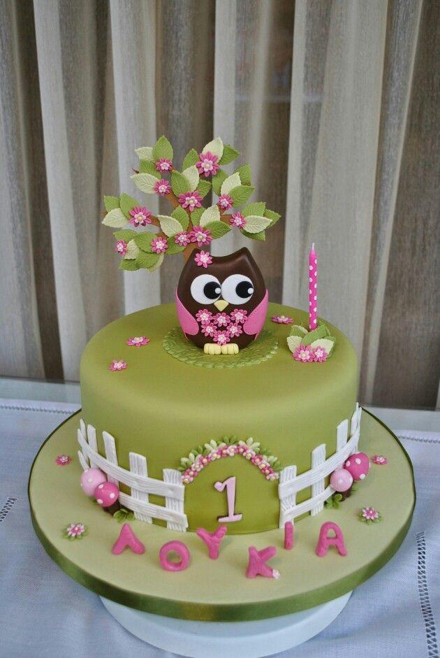 7 Owl Cakes For Girls Tweens Photo Pink Owl Fondant Cake Owl