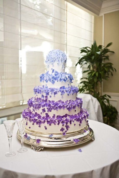 7 Blue And Purple Wedding Cakes Photo - Royal Blue and Purple ...