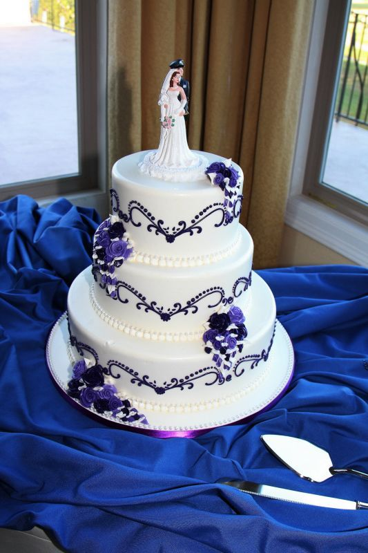 Wedding Cake Designs Purple And Blue - 5000+ Simple Wedding Cakes