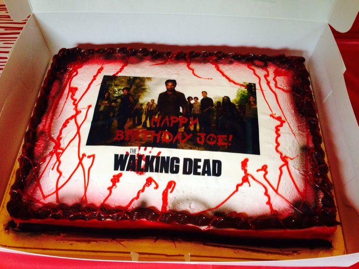 Fabulous 11 Walking Dead Theme For Birthday Cakes Photo Walking Dead Cake Funny Birthday Cards Online Alyptdamsfinfo