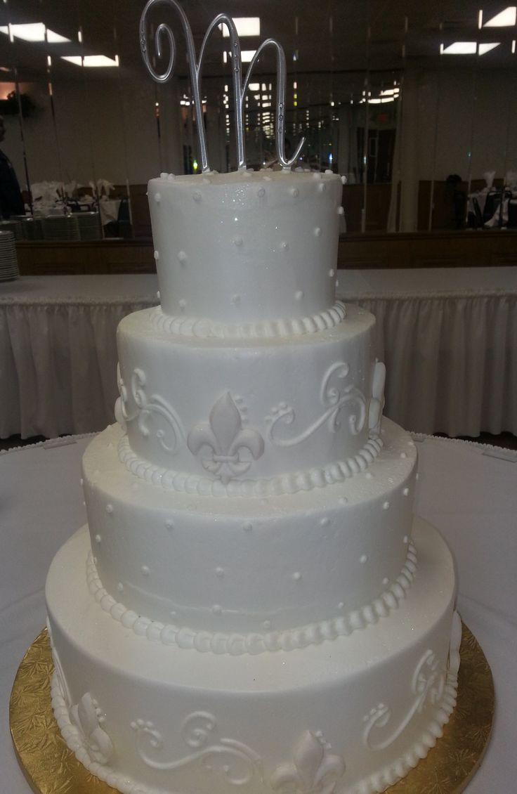 7 Delice Fleur Wedding Cakes Photo Fleur De Lis Wedding Cake