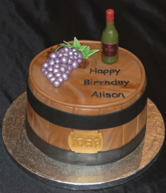 Wine Birthday Cake Ideas
