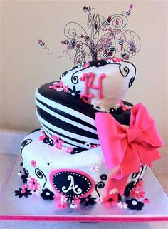 Fine 10 14 Year Old Birthday Cakes Pink And Purple Photo Black And Personalised Birthday Cards Akebfashionlily Jamesorg