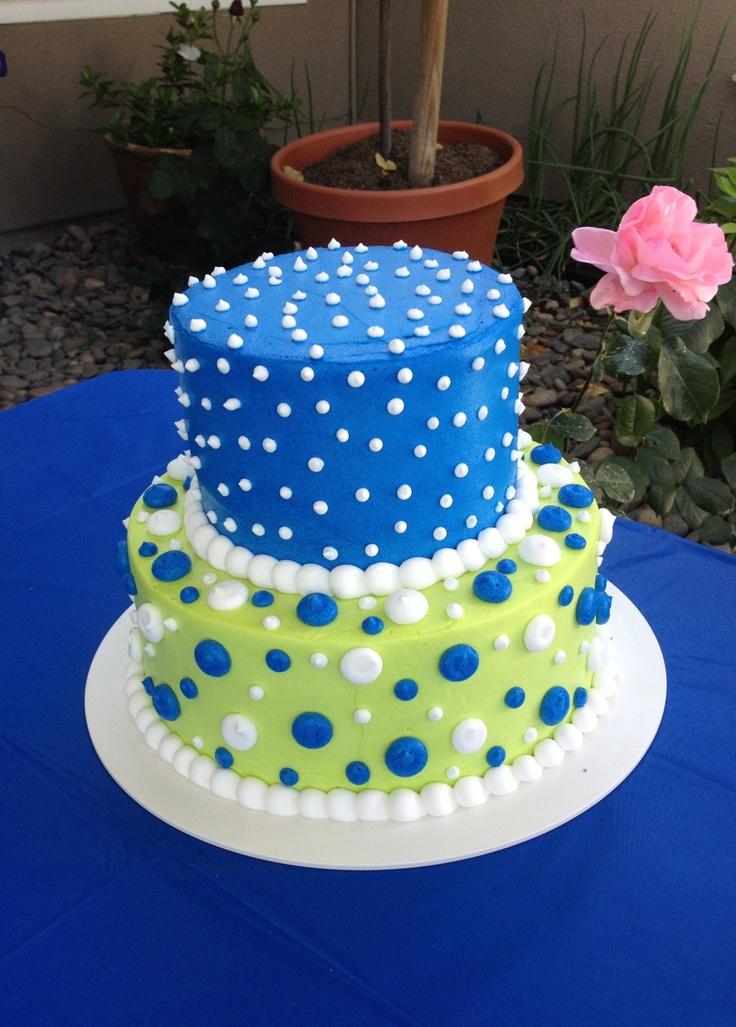 11 Blue And Purple Polka Dot Cakes Photo Blue Polka Dot Wedding