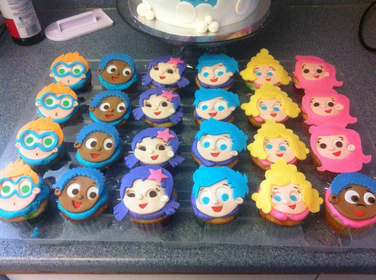 Enjoyable 11 Bubble Guppies Birthday Cupcakes Photo Bubble Guppies Cupcake Personalised Birthday Cards Veneteletsinfo