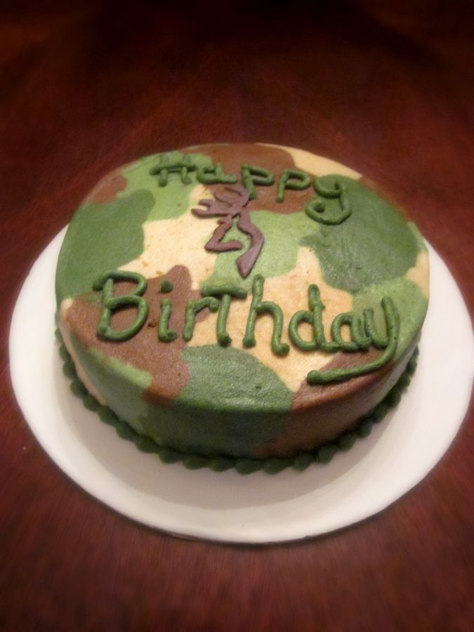 11 Camo Hunting Cakes For Boys Photo Camouflage Baby Shower Cake
