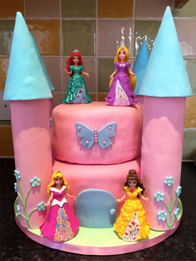 Disney Princess Castle Birthday Cake