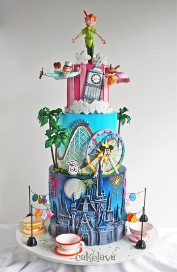 Swell 8 Disney Signature Peter Pan Cakes Photo Disney Themed Birthday Funny Birthday Cards Online Inifodamsfinfo