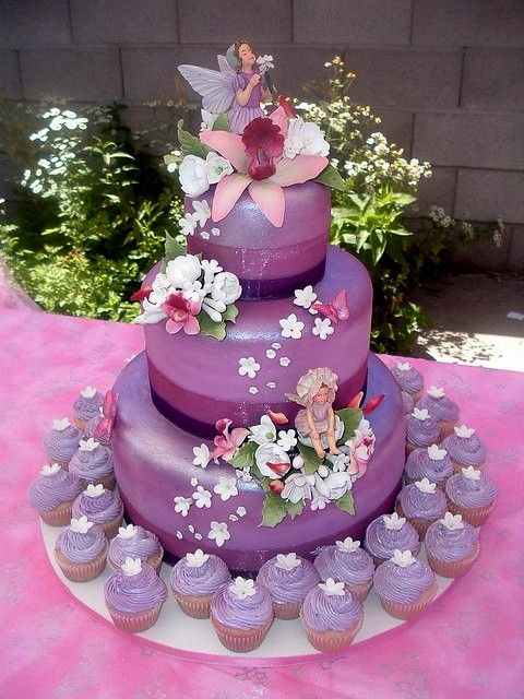 Flower Fairy Birthday Cake