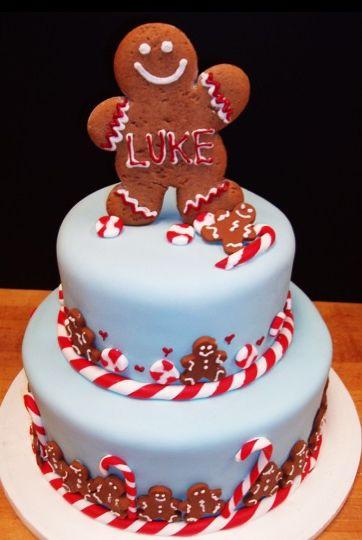 Astonishing 11 Elegant Christmas Cakes Gingerbread Men Photo Gingerbread Man Funny Birthday Cards Online Hetedamsfinfo