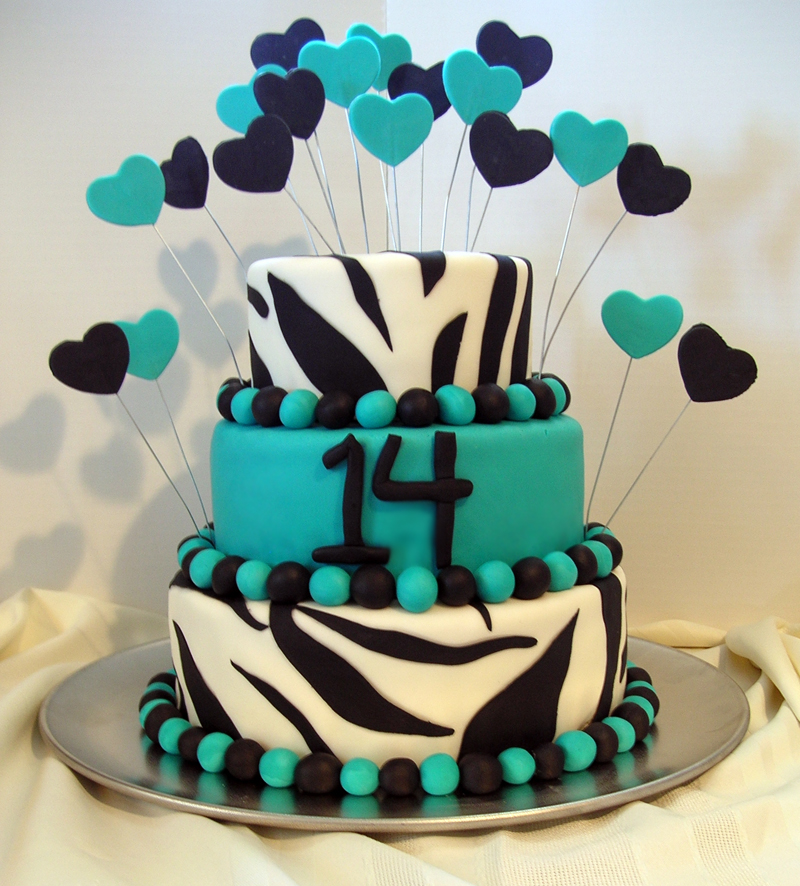 11 Beautiful Fondant Cakes For Teens Photo Colorful Teen Birthday