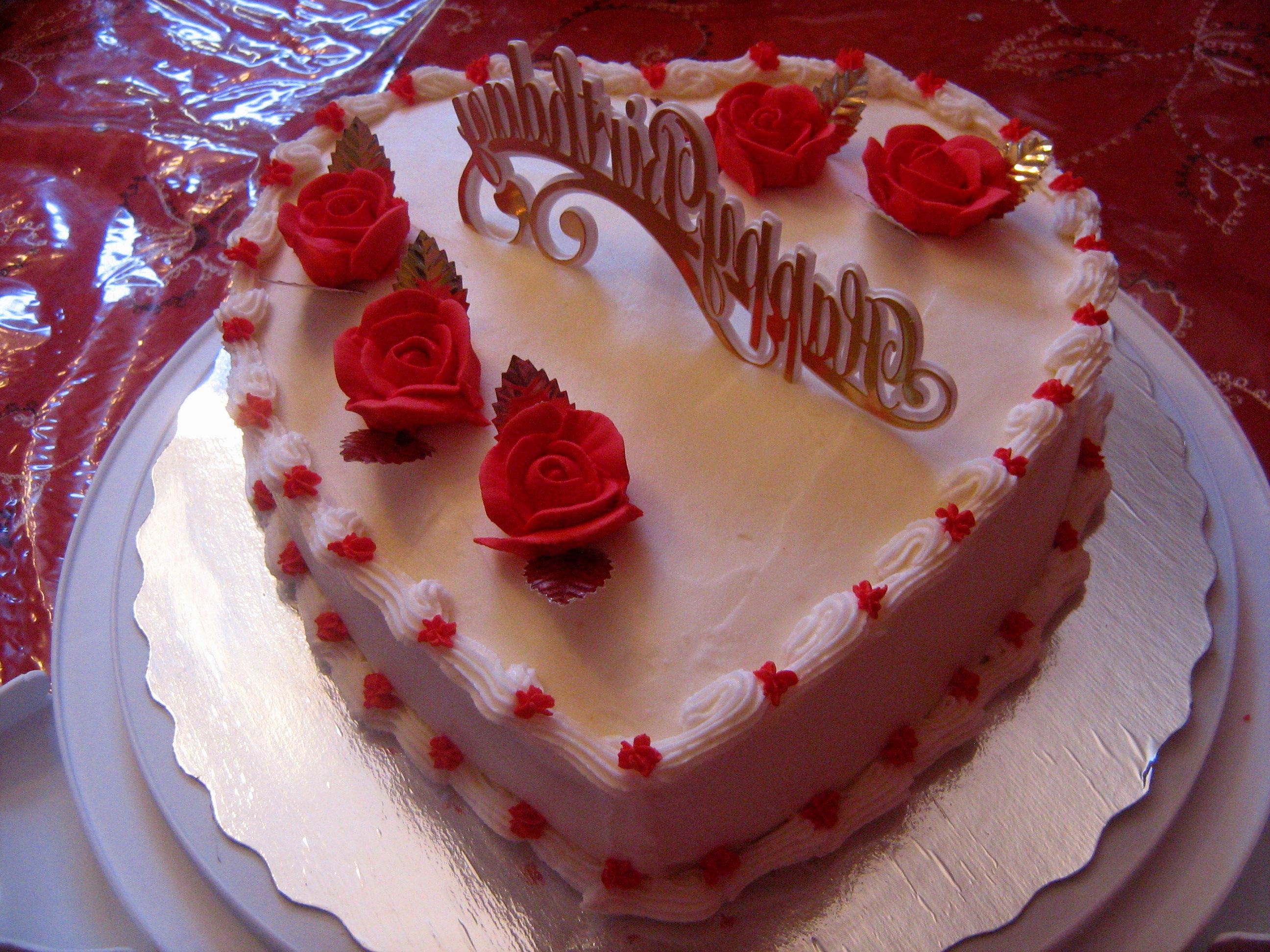 7 The Best Birthday Cakes Heart Photo Happy Birthday Cake Happy